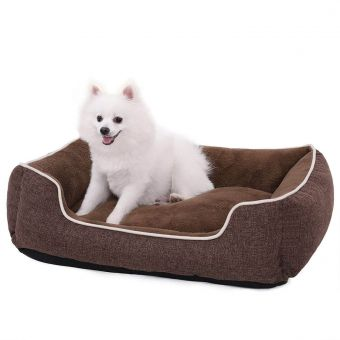 Comfortable Brown Pet Bed Cushion