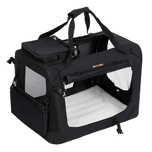 Black Dog Carrier Suit For Large, Medium and Small Size