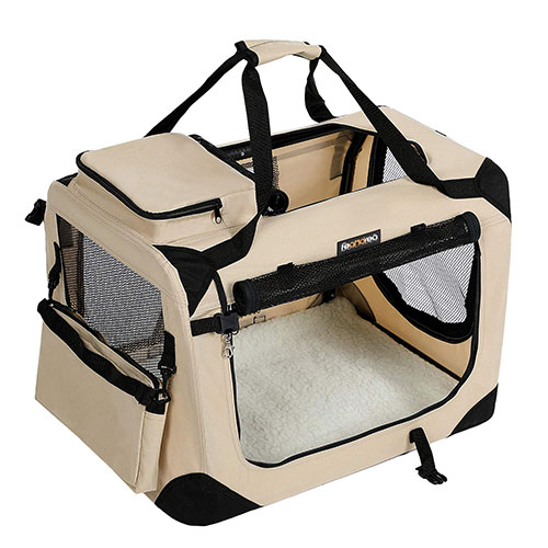 Beige Oxford Dog Travelling Carrier for Sale