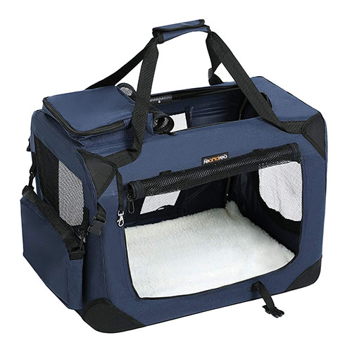 Portable Blue Puppy Carrier Bag