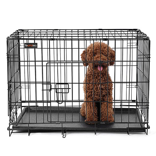 Black Wire Dog Crate for Sale
