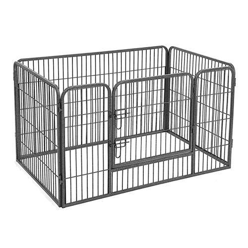 Grey Large Dog Playpen Indoor