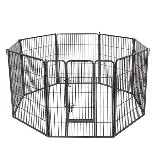 Octagon Grey Portable Pet Playpen for Dogs
