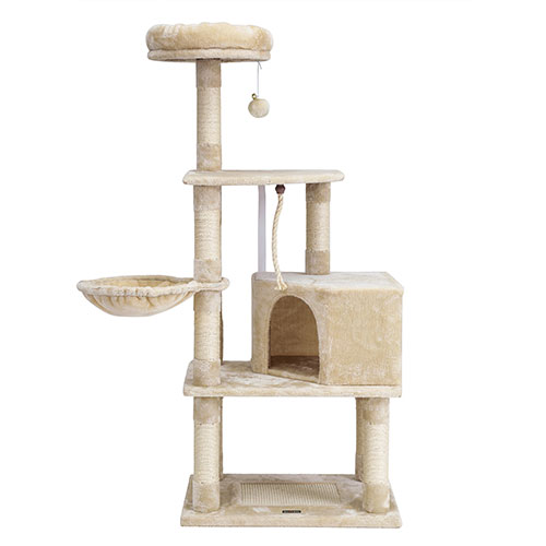Cat Tower with Condo and Basket