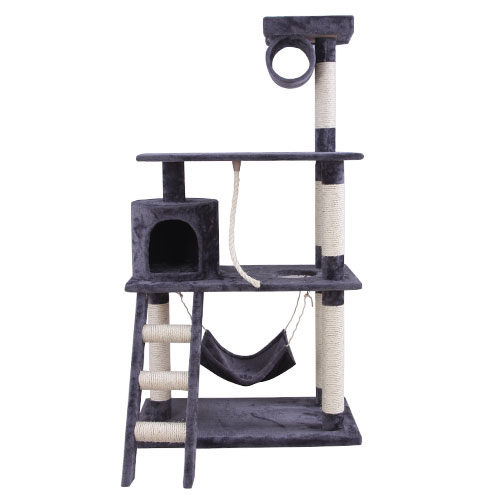 Smoky Grey Cat Tree with Stairway