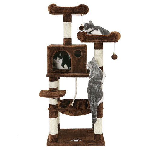 Multilevel Brown Cat Condos